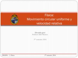Clase 7: Movimiento Circular