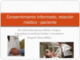 Consentimiento Informado, relación médico