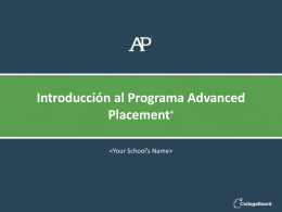 Exámenes AP - The College Board
