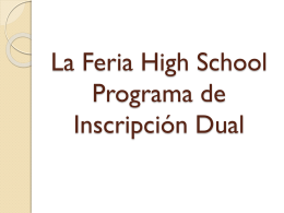inscripción dual - La Feria High School