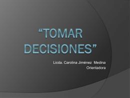 Tomar decisiones - Presentación