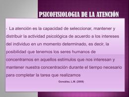 Psicofisiologia de la atención