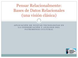 Pensar Relacionalmente: las Bases de Datos