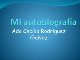 Mi autobiografía - innovandolaeducacion