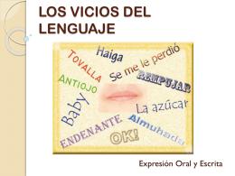 LOS VICIOS DEL LENGUAJE