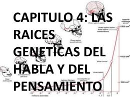 4. Las Raíces Genéticas Del Pensamiento Y El Habla