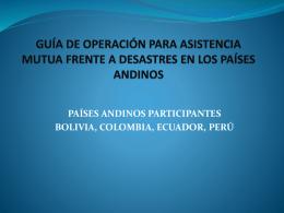 guía de operación para asistencia mutua frente a desastres