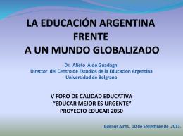 LA EDUCACIÓN FRENTE A UN MUNDO GLOBALIZADO
