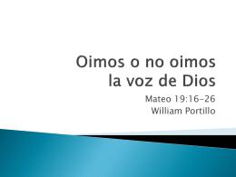 Mateo 19-b - Comunidad Cristiana Emanuel