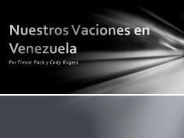Nuestros Vaciones en Venezuela