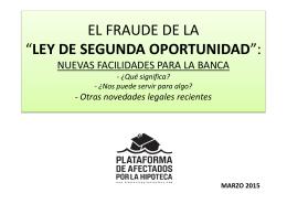 EL FRAUDE DE LA LEY DE 2a OPORTUNIDAD mar15