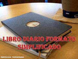 LIBRO DIARIO FORMATO SIMPLIFICADO El libro diario