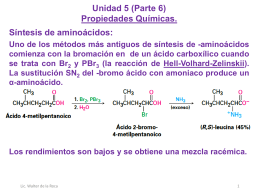 Unidad 5 (Biomoléculas, Aminoácidos P.6 2S 2015 USAC)