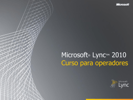 Microsoft Lync 2010 Attendant Training - IntraEdu