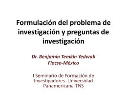 Formulación del problema de investigación y