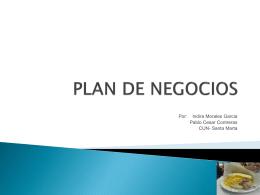 PLAN DE NEGOCIOS - Indira Morales Garcia