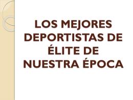 LOS MEJORES DEPORTISTAS DE ÉLITE DEL SIGLO XX1