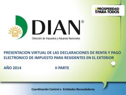 presentacion virtual de declaraciones y pago electrónico