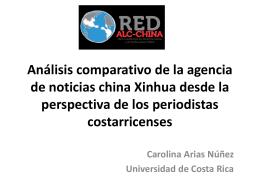 Análisis comparativo de la agencia de noticias china - red alc