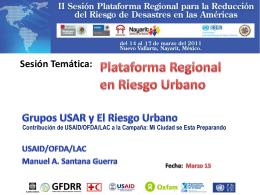 Grupo USAR y el Riesgo Urbano