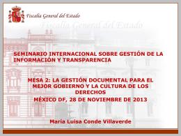 Presentación - Dra. María Luisa Conde Villaverde