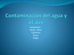 Contaminación del agua y el aire