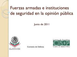 Encuestas de opinión y percepción ciudadana, respecto del Ejército