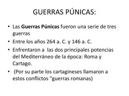GUERRAS PÚNICAS: - LEMOS latín e grego