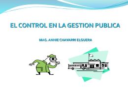 EL CONTROL EN LA GESTION PUBLICA