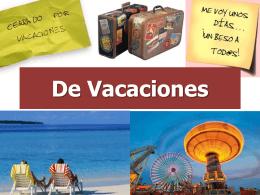 Vocabulario Vacaciones 8A