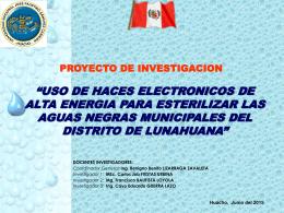 USO DE HACES ELECTRONICOS PARA ESTERILIZAR