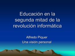 Educación en la segunda mitad de la revolución informática