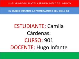 EL MUNDO DURANTE LA PRIMERA MITAD DEL SIGLO XX