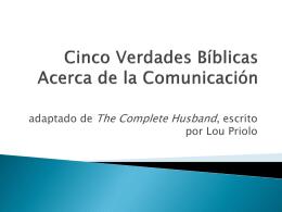 Cinco Verdades Bíblicas Acerca de la