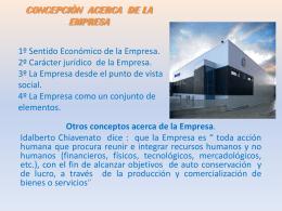 CONCEPCIÒN ACERCA DE LA EMPRESAS
