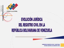 evolución histórica del registro civil en venezuela