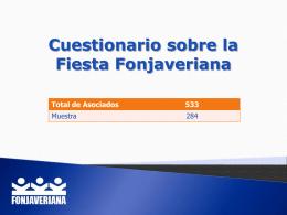 Cuestionario sobre la fiesta Fonjaveriana