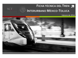 Ficha técnica del Tren Interurbano México