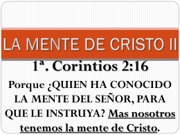 (New) La Mente de Cristo II