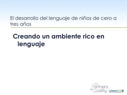 Creando un ambiente rico en lenguaje