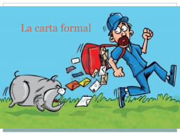 La carta formal - lengua