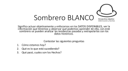 Sombrero BLANCO - Transportes Pitic
