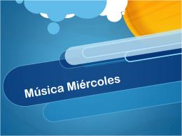 Música Miércoles
