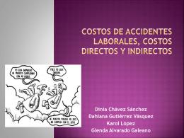 COSTOS DE ACCIDENTES LABORALES, COSTOS DIRECTOS Y