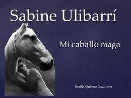Mi caballo Mago - Sabine Ulibarrí PpT