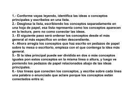 1.- Conforme vayas leyendo, identifica las ideas o conceptos