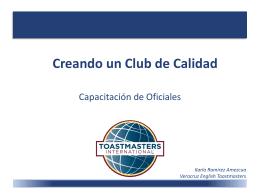 Creando un Club de Calidad