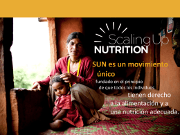 El enfoque de SUN - Scaling Up Nutrition