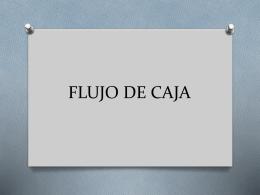 FLUJO DE CAJA - Dina Castro Ramos