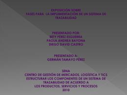 Fases para la implementación de un sistema de trazabilidad en